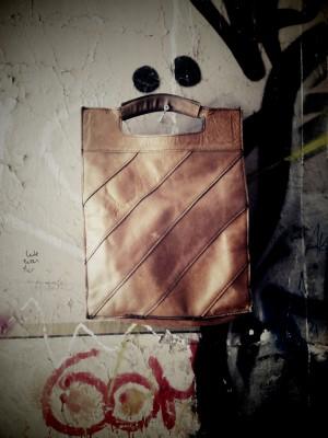 Vintage Lederhandtasche 35€